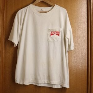 90s Vintage Worn Marlboro Riding Man Tee sz XL